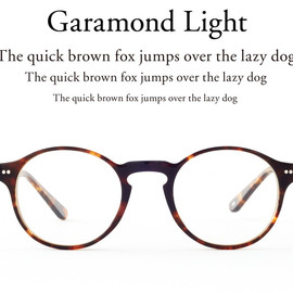TYPE - Garamond Light Tortoise