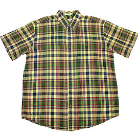 ORVIS - Vintage Orvis Plaid Button Down Shirt in Yellow/Green Mens Size XL