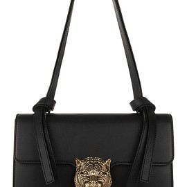 GUCCI - FE2015 Linea G1 embellished leather shoulder bag