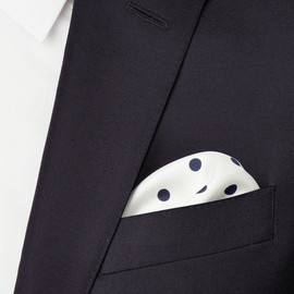 Drake's - Drake's Polka-Dot Silk Pocket Square
