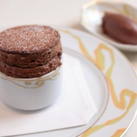 "LE SALON JACQUES BORIE - VELVETY BITTER CHOCOLATE SOUFFLÉ ""VANUARI"""