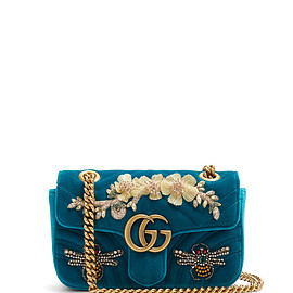 GUCCI - GG Marmont mini quilted-velvet cross-body bag