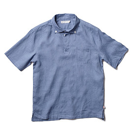 HEAD PORTER PLUS - PULLOVER H/S SHIRT BLUE