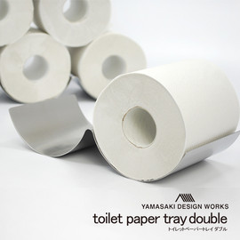 YAMASAKI DESIGN WORKS - toilet paper tray stainless double