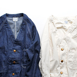 orslow * ナイモノねだり - No Collar COVER ALL - Ecru -