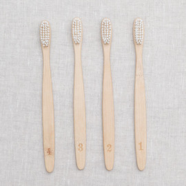 southern accents new york - tooth brush-numbers-
