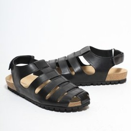 Neil Barrett - Leather Gladiator Sandle in Black