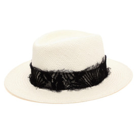 Maison Michel - 'Andre' Straw and Lace Trilby Hat