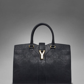 Yves Saint Laurent - Medium YSL Cabas Chyc in Black Leather