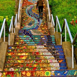 Aileen Barr and Colette Crutcher - Tiled Steps in San Francisco