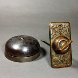 "アンティーク - 1900's ""Cast Iron&Brass"" Loud Doorbell"