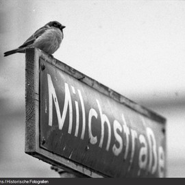 "HH Germany - Street sign ""Milchstrasse"""