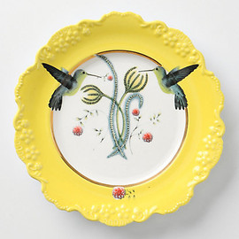 Anthropologie - Natural World Plate, Humming Bird