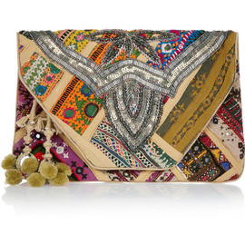 ANTIK BATIK - Jango embroidered cotton clutch