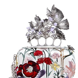 Alexander McQueen - SS2016 KNUCKLE BOX FLORAL EMBROIDERED CLUTCH