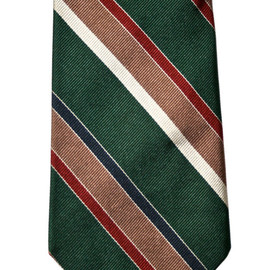 Brooks Brothers - Vintage Brooks Brothers Green Striped Silk Necktie