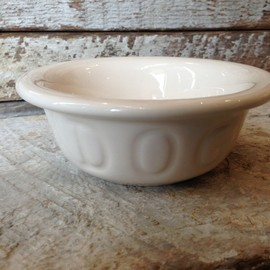 Bauer Pottery - DOGBOWLSWhiteSmall