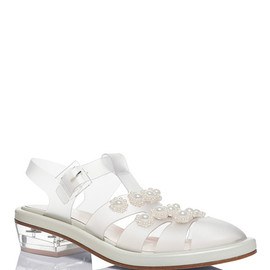 SIMONE ROCHA - Clear Jelly Daisy Pearl Sandals