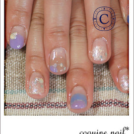 coquine nail - あじさいネイル。