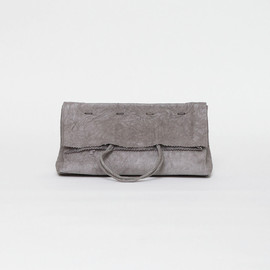 irose - paper clutch bag / gray