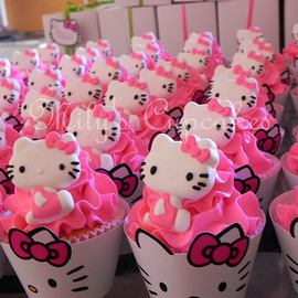 Mily's Cupcakes - Pink Hello Kitty Cupcakes