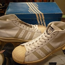 """adidas - 「<used>80's adidas PROMODEL white/natural""""made in FRANCE"""" W/BOX size:GB6/h(25cm) 14800yen」完売"""