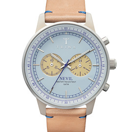 TRIWA - TRIWA WATCH NEVIL Alabaster NEAC110 ブルー×カーキ