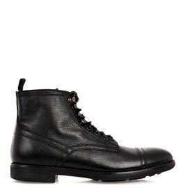 DOLCE&GABBANA - Grained-leather boots