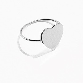 & Other Stories - Sweetheart Ring in Silver(£12)