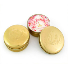 malie - soy travel candle tin plumeria