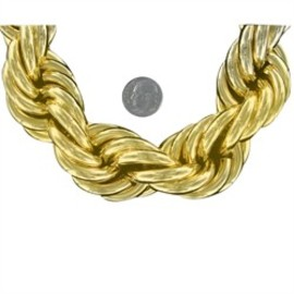 30mm 36 Inch Gold Dookie Rope Chain