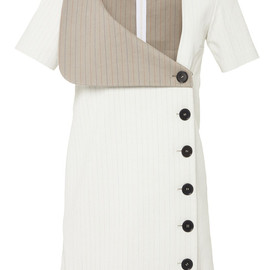 J.W. ANDERSON - SS2015 Beige And Stripe Sailor Dress