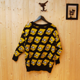 Rabbit Cave - Simpson Pattern Woolen Sweater