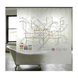 London Transport Museum - Tube Map Shower Curtain