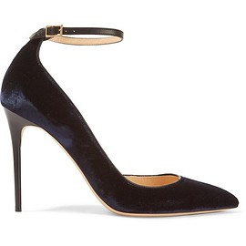 Jimmy Choo - Lucy leather-trimmed velvet pumps