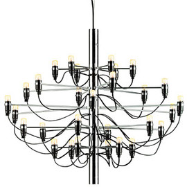 Gino Sarfatti - moss > Mod 2097 chandelier (50 lights) chrome by Gino Sarfatti