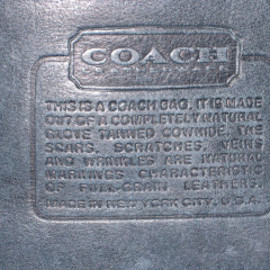 COACH - MADE IN NEW YORK CITY, U.S.A (70s Vintage)