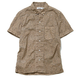 nonnative - LABORER SHIRT SS - COTTON OXFORD by LIBERTY OVER DYED