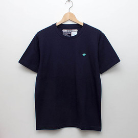 cup and cone - Embroidery Tee - Navy x Mint