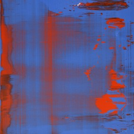 Gerhard Richter - Abstract Painting, Blue/Red