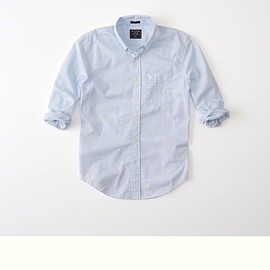 Abercrombie & Fitch - Poplin Shirt Blue Micro Check