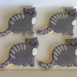Gray Cat Cookies