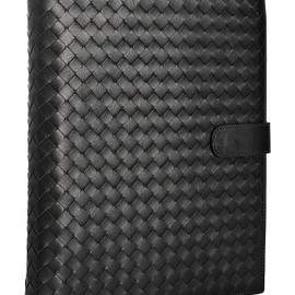 BOTTEGA VENETA - Bottega Veneta  black intrecciato leather calendar planner