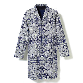 White Mountaineering - BANDANNA PATTERN PRINTED REVERSIBLE SHOP COAT