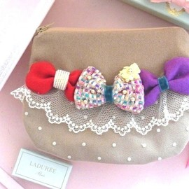 Joe & Ruban - Triple ribbon pouch