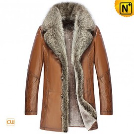 CWMALLS - Multifunctional Fur Coat | CWMALLS® Moscow Custom Shearling Leather Coat CW868565 [Christmas Gifts]