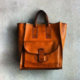 Vintage Natural leather bag.