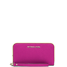 MICHAEL KORS - MICHAEL Michael Kors Jet Set Travel Specchio Large Coin Multi Function Phone Wristlet