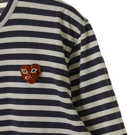 PLAY COMME des GARCONS - Spangle Play T-Shirt (Stripes)