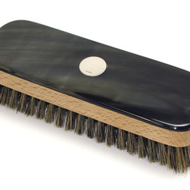 Abbeyhorn - Clothes Brush - Rectangular With Silver Disc